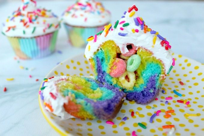 Check out the rainbow surprise inside