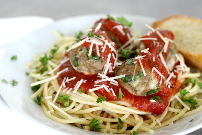 Cheese and spinach turkey meatballs are always a hit