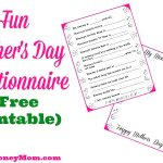 Fun Mother's Day Questionnaire with Free Printable