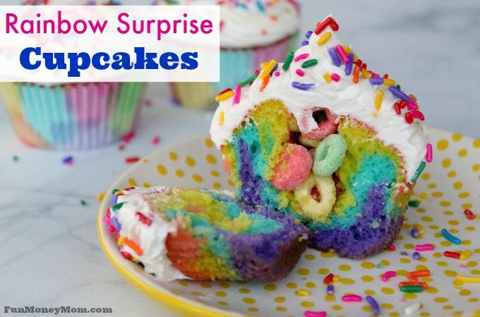 Fun & Easy Rainbow Surprise Cupcakes