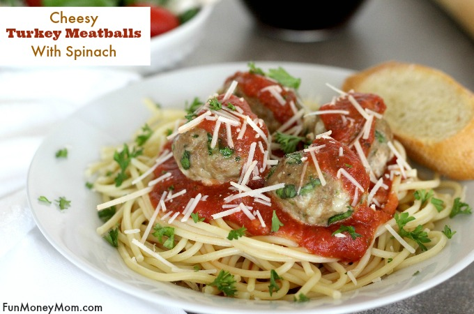 Cheesy Turkey Meatballs are a great edition to the meal planning ideas