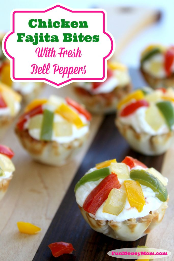 Looking for a fun, new appetizer to serve at your next get-together? Your guests will go crazy for these delicious Chicken Fajita Bites!