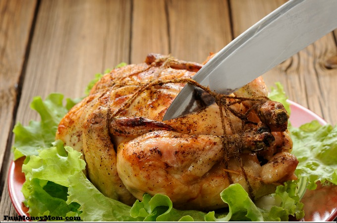 how to cut up a roasted chicken