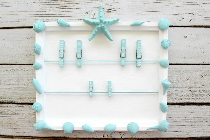 I love how this DIY coastal message board turned out!