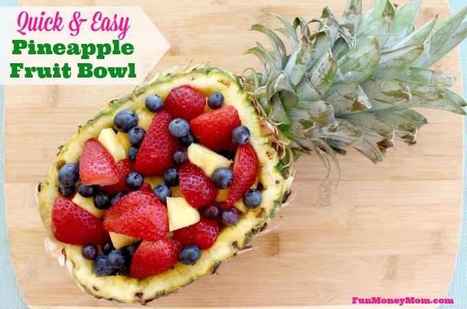 Easy pineapple fruit bowl
