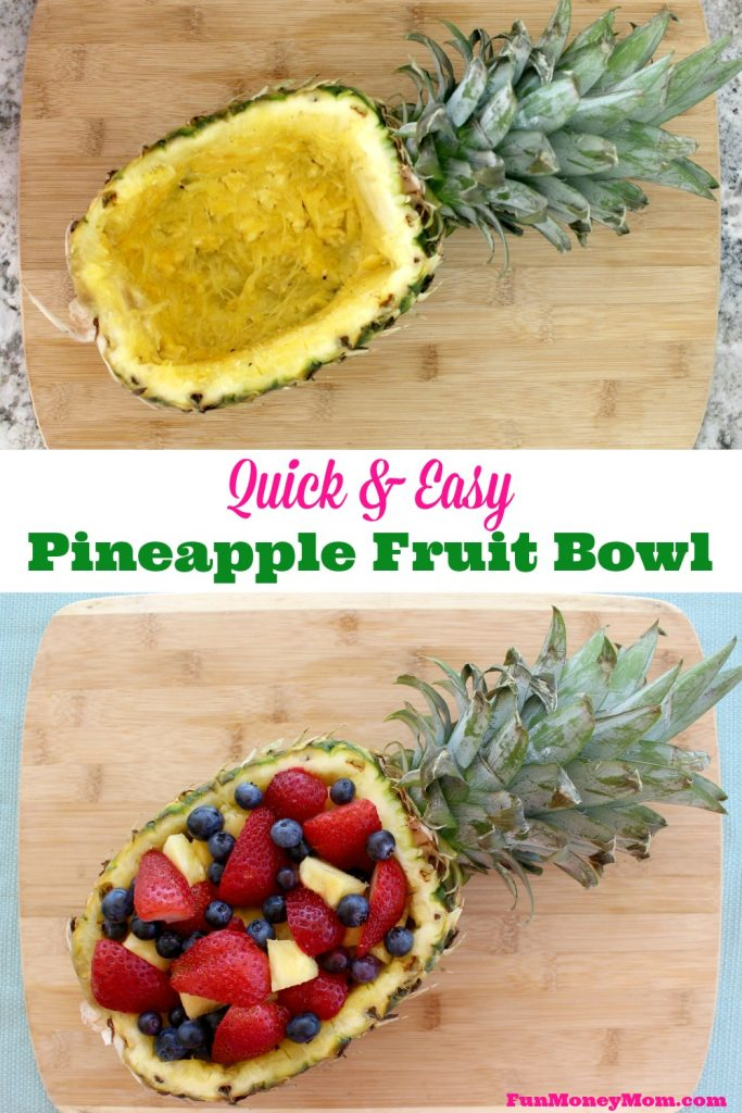... bowl. This pretty pineapple fruit bowl is easy to make and so much
