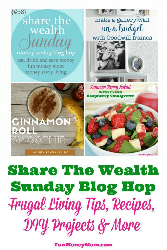 Bloggers, join us for the Share The Wealth Sunday Blog Hop! Come share your favorite frugal living posts, delicious recipes, DIY projects, crafts and more! I can't wait to see what you link up!