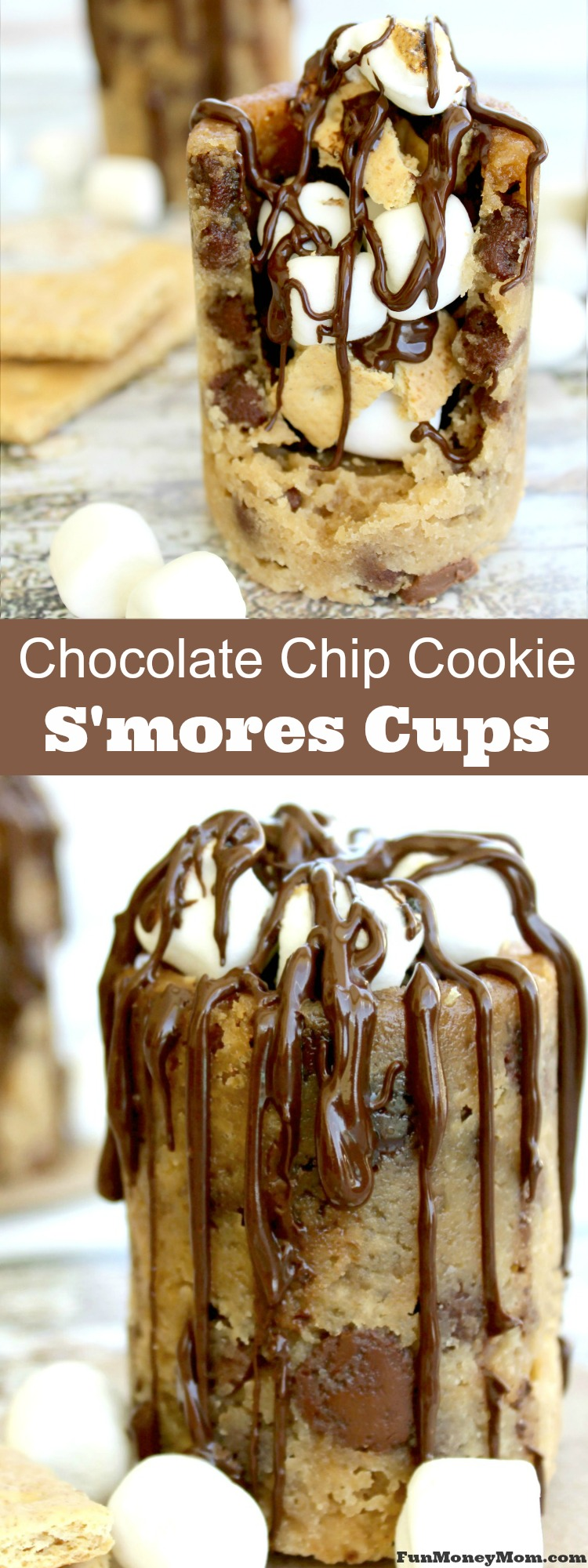 Everybody loves s'mores but why not make them with a fun twist. These delicious Chocolate Chip Cookie S'mores are the perfect sweet treat for your summer fun!