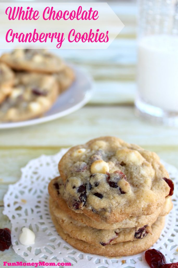 Want a quick treat that's a little different from your usual chocolate chip cookie? You won't be able to stop eating these delicious White Chocolate Cranberry Cookies!