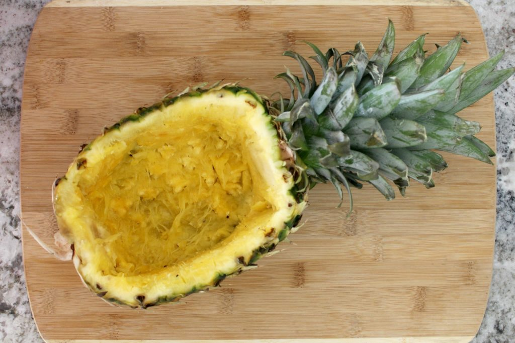 pineapple-fruit-bowl-hollowed