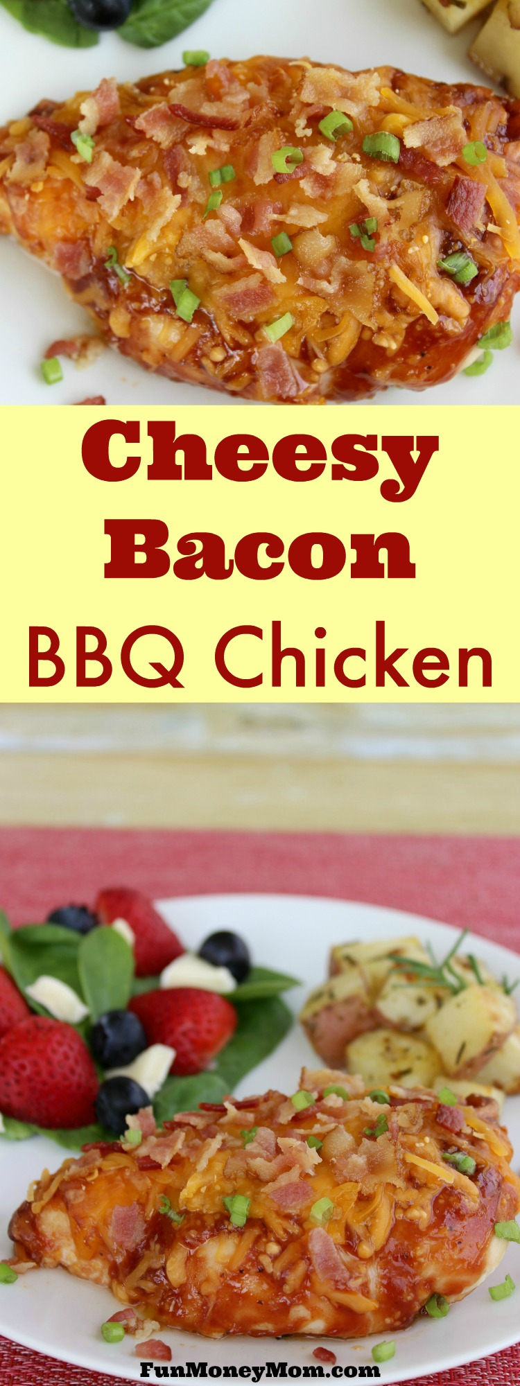 This Cheesy Bacon BBQ Chicken is going to quickly become your family's favorite dinner recipe!