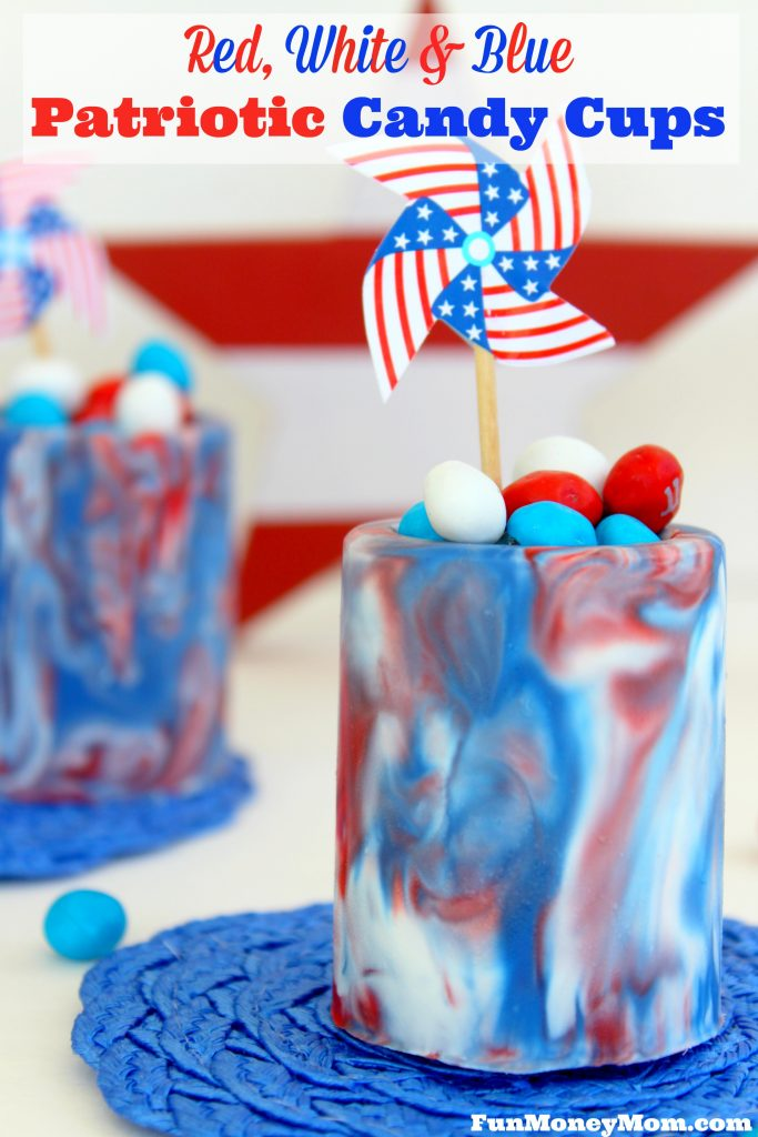 Want a delicious treat for the Fourth Of July? Everyone will love these fun to make (and even more fun to eat) Patriotic Candy Cups!