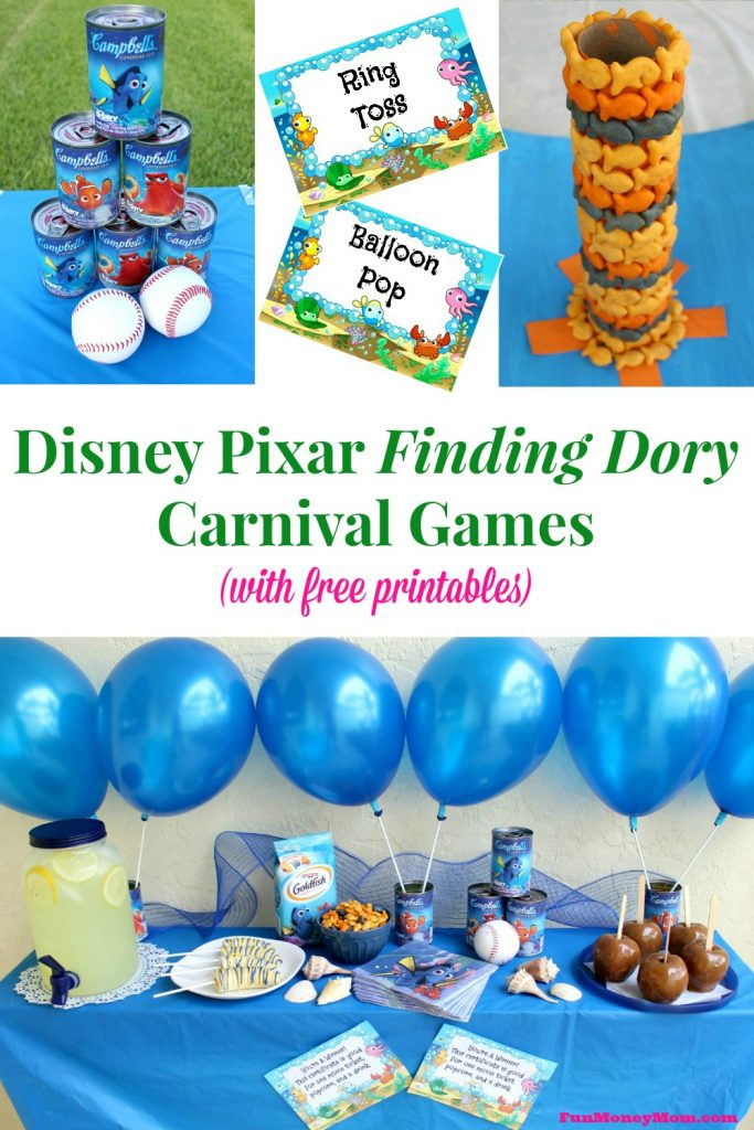 The kids will have a blast when you throw this ultimate backyard carnival with Disney Pixar's Finding Dory Carnival Games! #FindingDelicious #ad