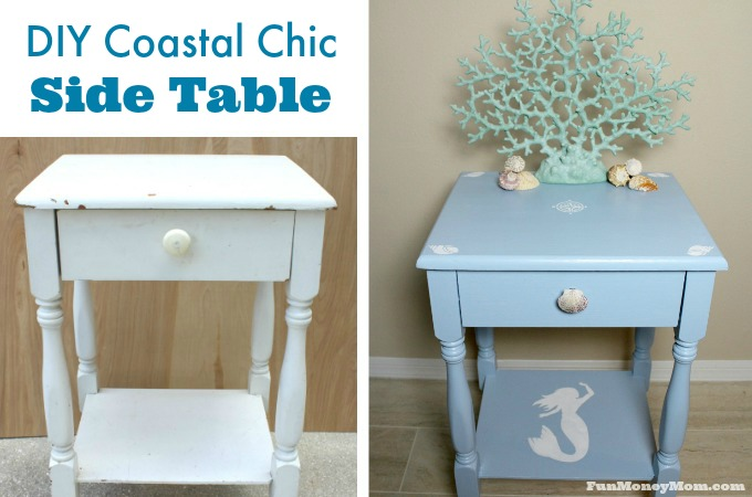 DIY Coastal Chic Side Table