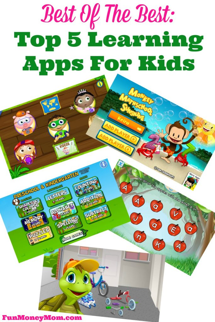 Sneak in a little learning while your kids just think they're playing games! Try the Top Learning Apps For Kids!