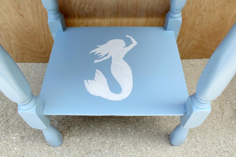 DIY-coastal-chic-side-table-mermaid