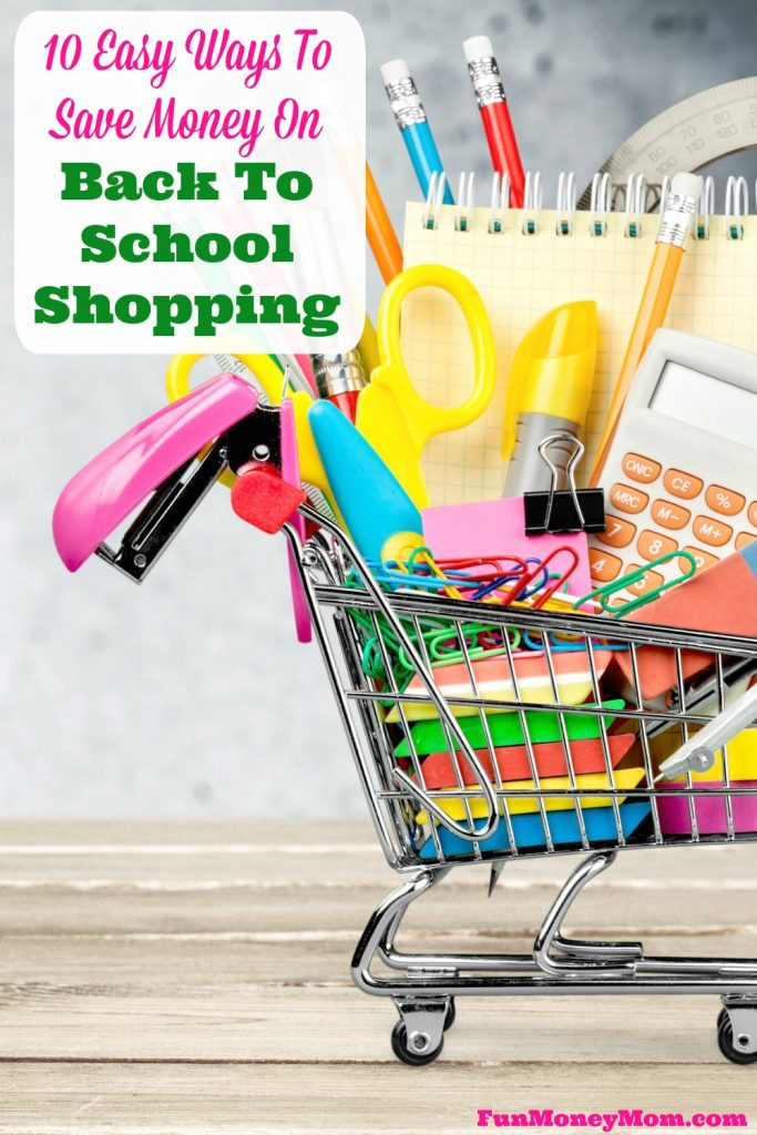 Save money on school supplies this year. These 10 tips will help you budget for your back to school shopping trip!