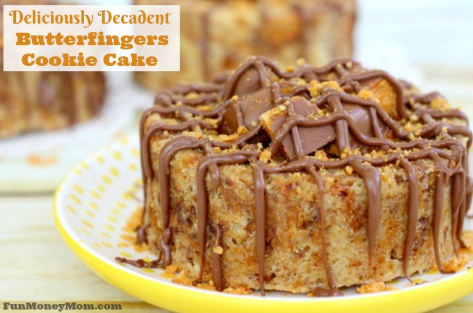 Deliciously Decadent Mini Butterfingers Cookie Cake