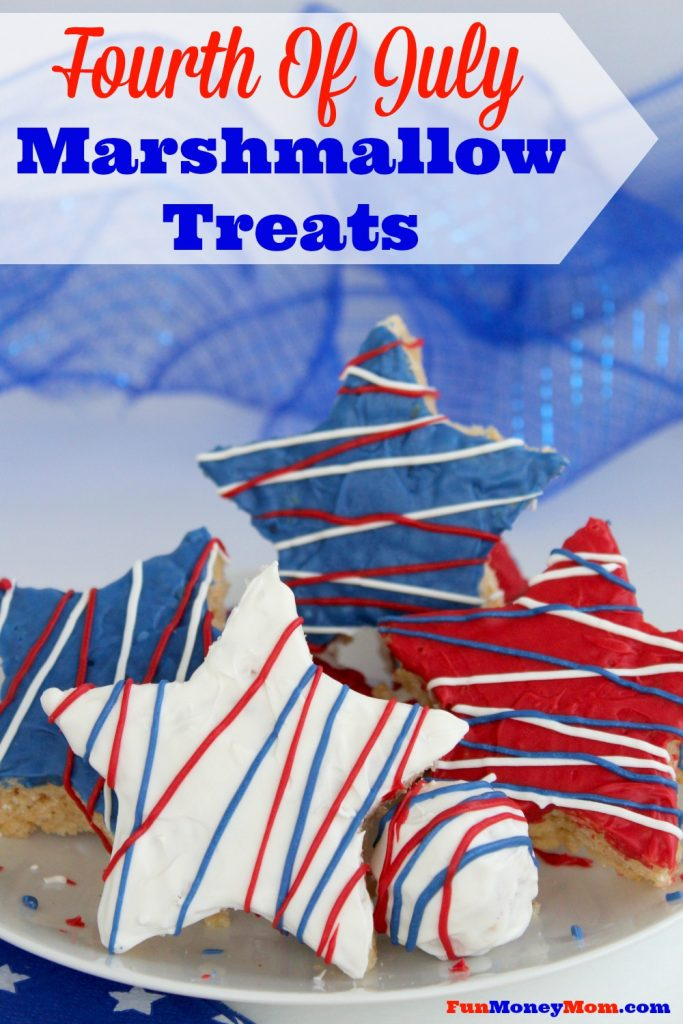 Looking for something fun, delicious and most of all, easy for your cookout or party? Try these Fourth Of July Marshmallow Treats...they're sure to be a huge hit!
