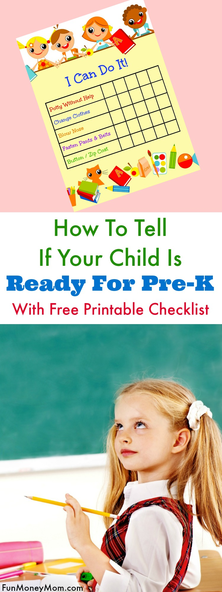 Your child is old enough but how do you know they're actually ready for Pre-K? You may be practicing the ABC's and 123's but these are the Pre-K skills your child really needs to know. Use this free printable to help your child become independent and ready for school.