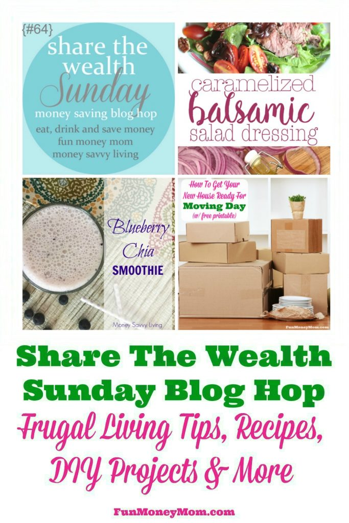 Join the Share The Wealth Sunday Blog Hop and share your favorite recipes, frugal living tips, DIY Projects and more!