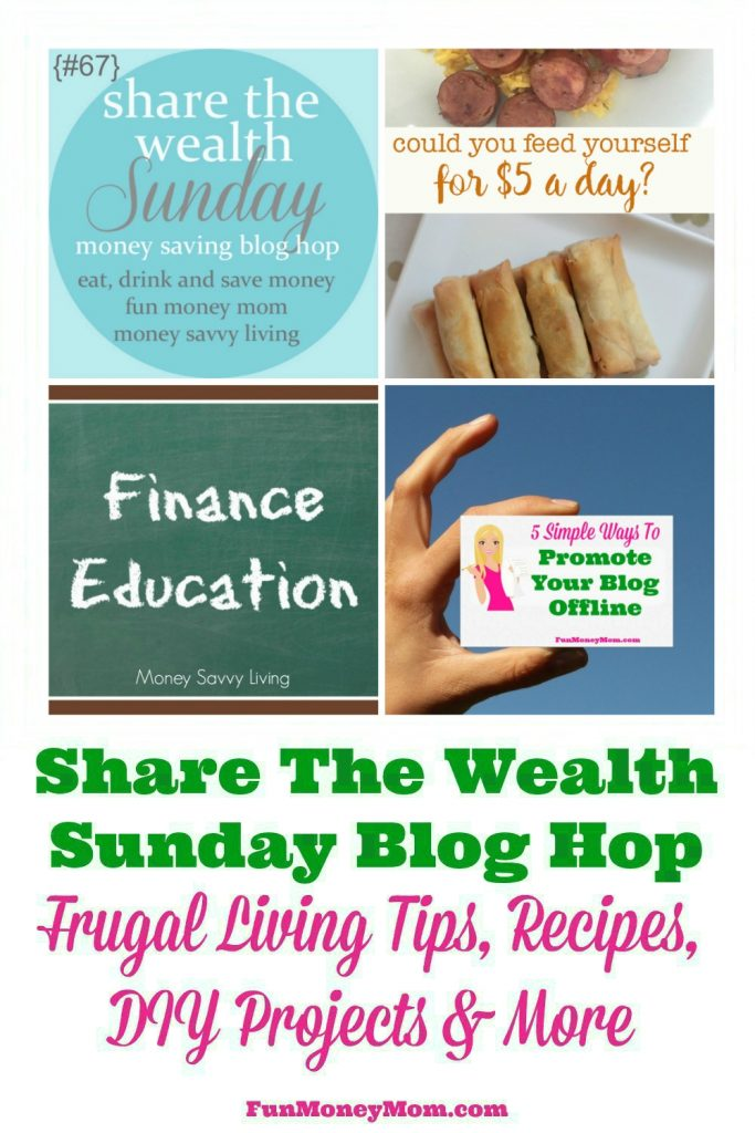 Join us for our Share The Wealth Sunday Blog Hop (week of July 30th)