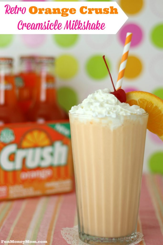 If you get nostalgic for the treats you had as a kid, you'll fall in love with this deliciously retro Orange Crush Creamsicle Milkshake! #ThrowbackSoda #ad