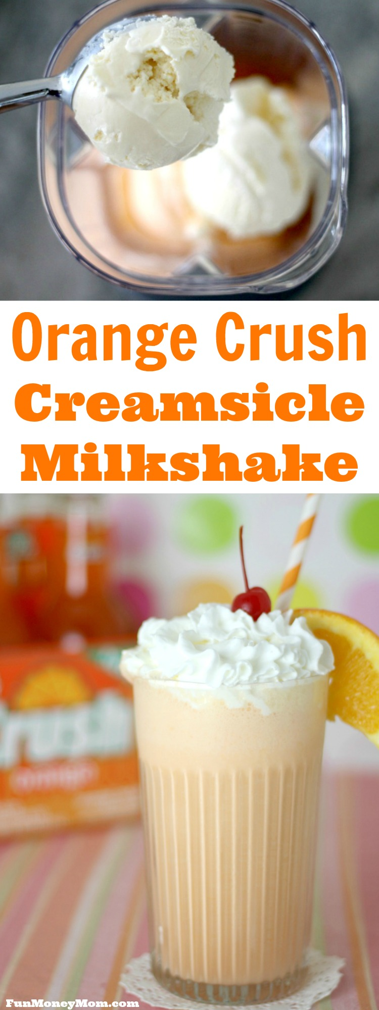 retro orange creamsicle milkshake fun money mom