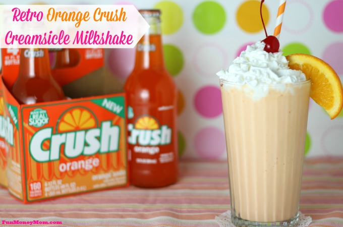 Retro Orange Crush Creamsicle Milkshake