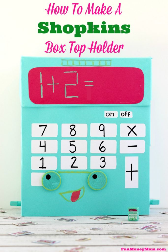 "Your kids will have a blast making this ""Kelly Calculator"" Shopkins Box to hold all their Box Tops! #ad #costcoboxtops @costco @boxtops"