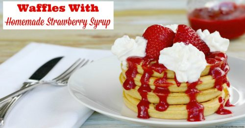 http://funmoneymom.com/recipes/strawberry-whipped-cream-waffles-homemade-strawberry-syrup/