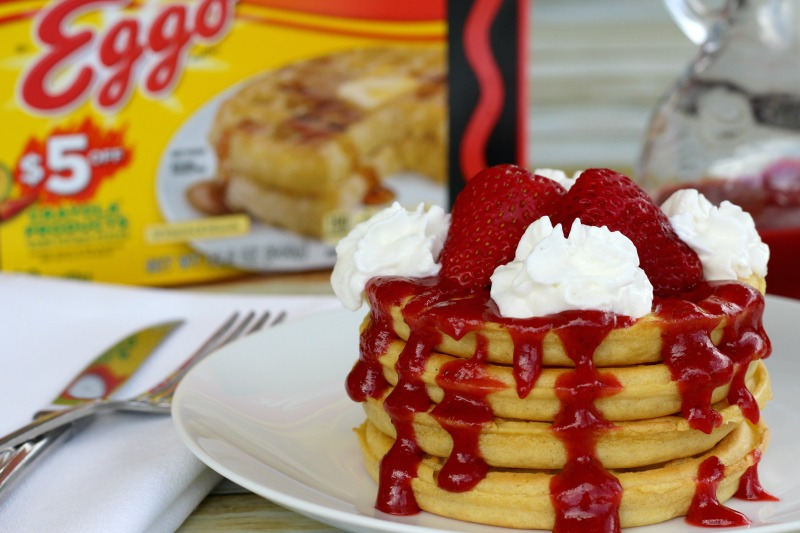 Strawberry-whipped-cream-waffles-eggos
