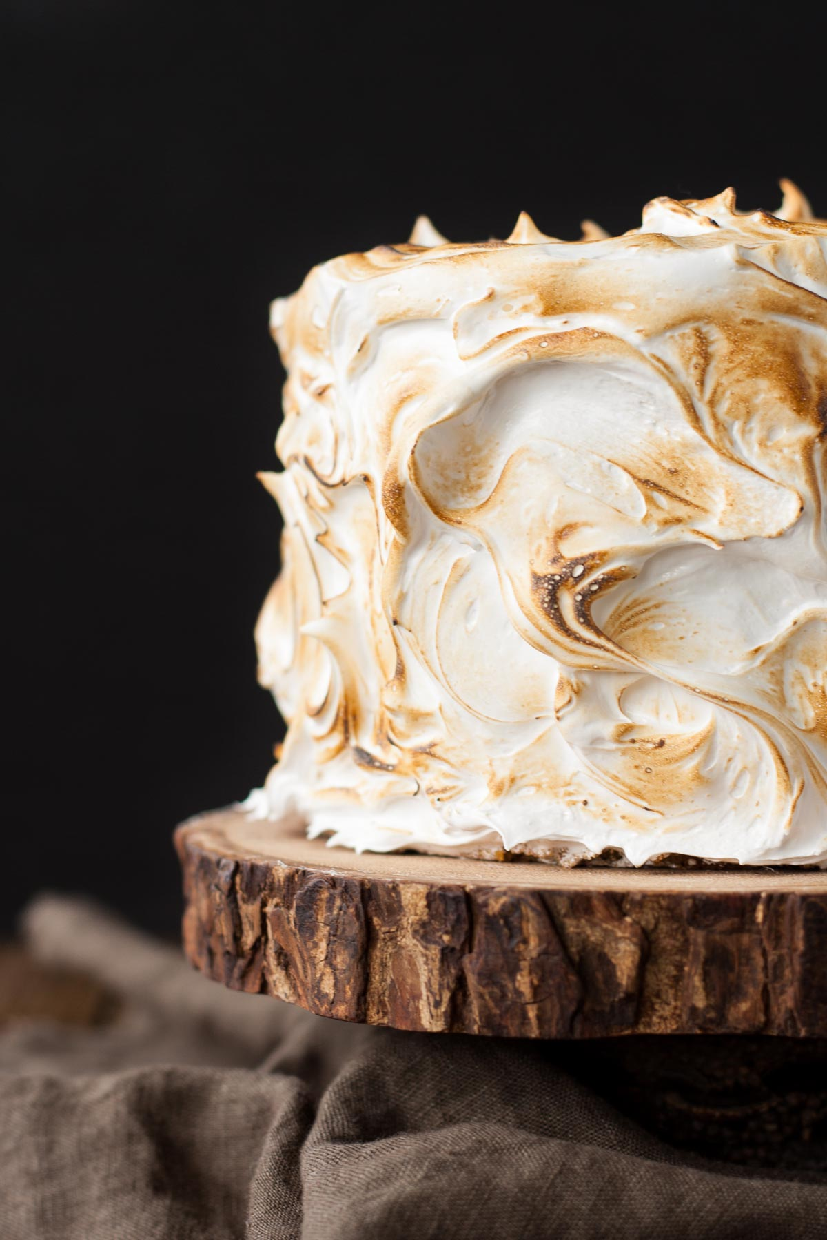 s'mores twists marshmallow cake
