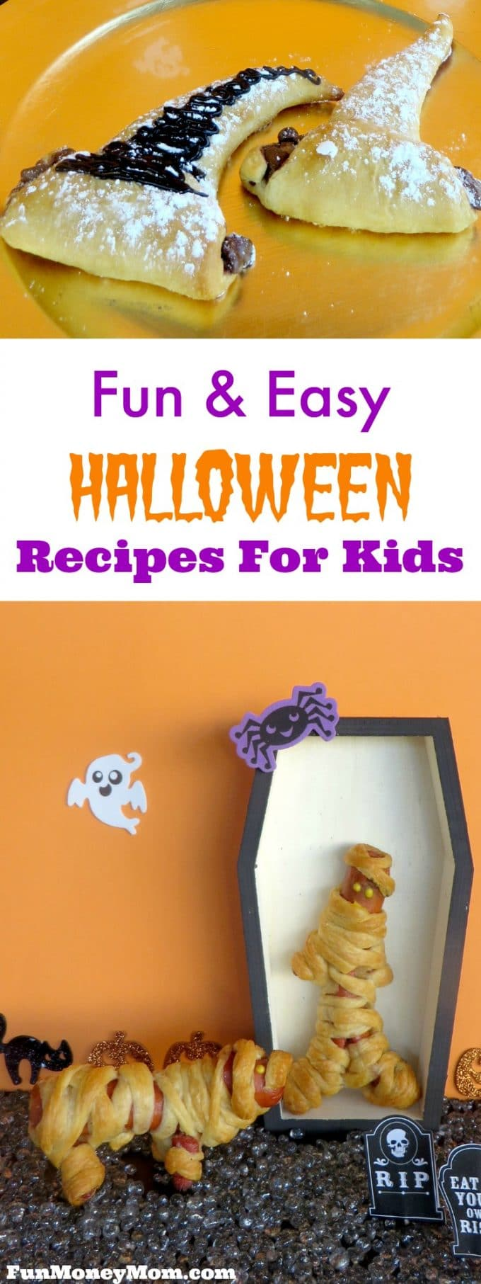 Want some fun Halloween recipes for the kids? They're going to love these easy Halloween treats! #ad