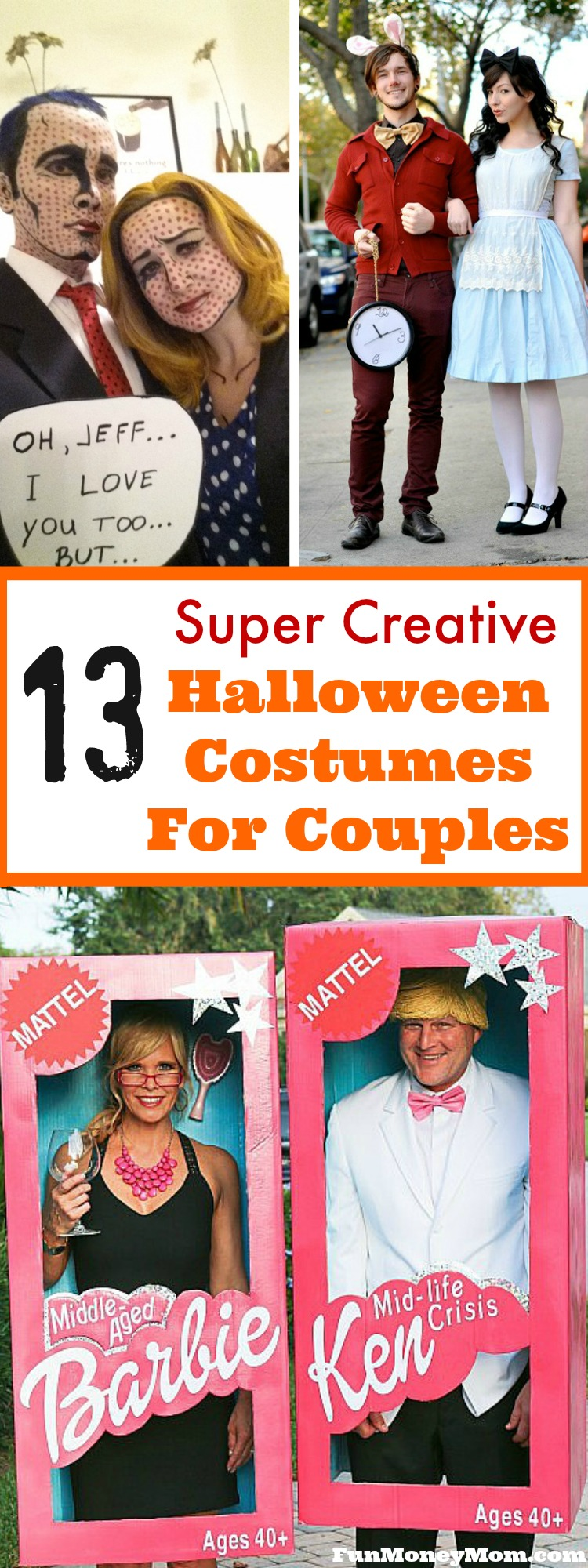 Need to come up with a couples costume for Halloween? These amazing Halloween costumes are both fun and creative and will be a hit at any Halloween party!