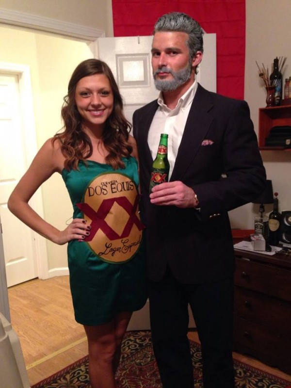 Most Interesting Man with beer Halloween costumes for couples