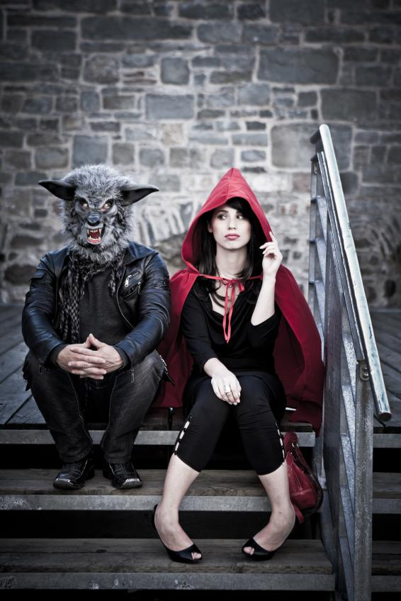 Red Riding Hood and The Big Bad Wolf Halloween costumes for couples