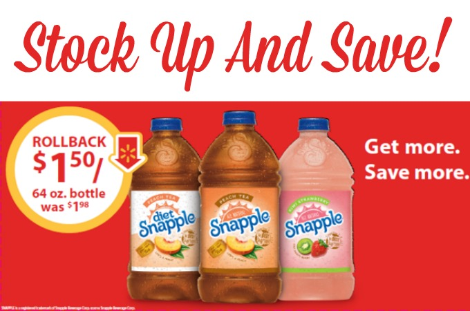 Save Now With The Snapple® Tea Rollback