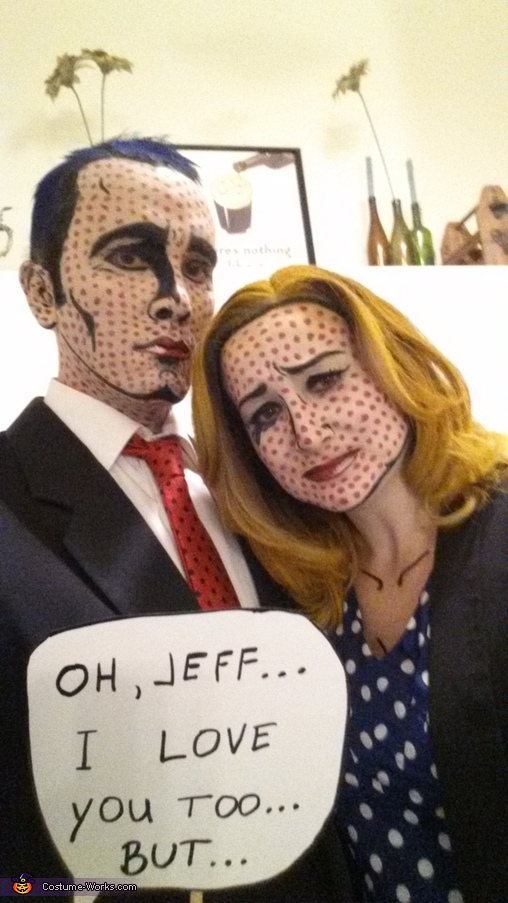 Modern art Halloween costumes for couples