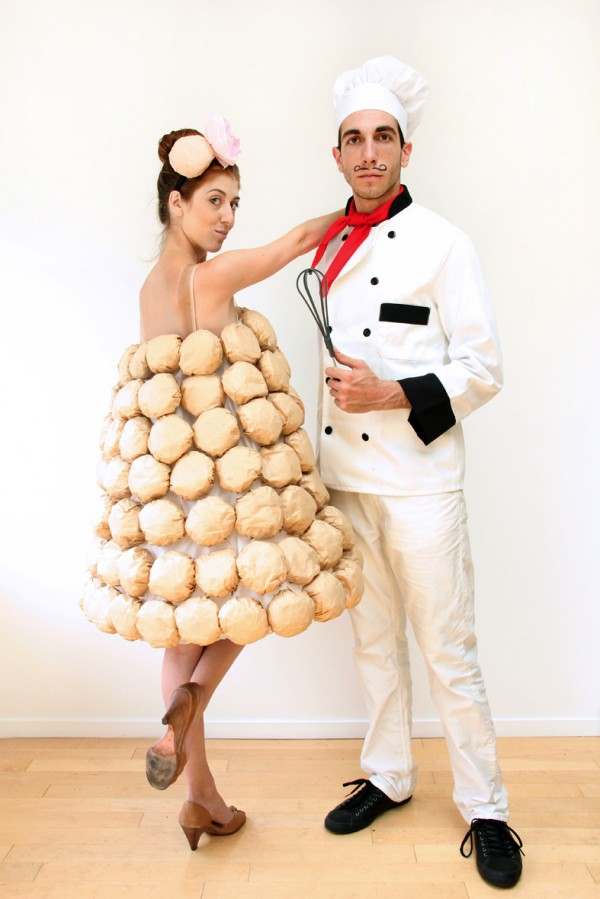 Chef with pastry Halloween costumes for couples