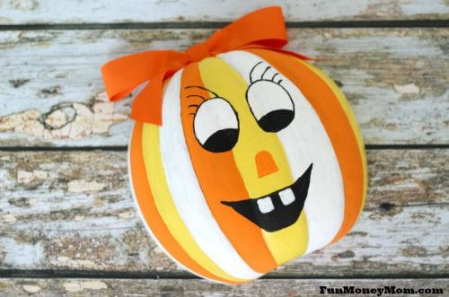 Jack o lantern candy bowl feature