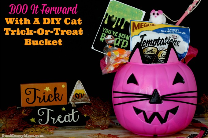 BOO It Forward With A DIY Cat Trick Or Treat Bucket