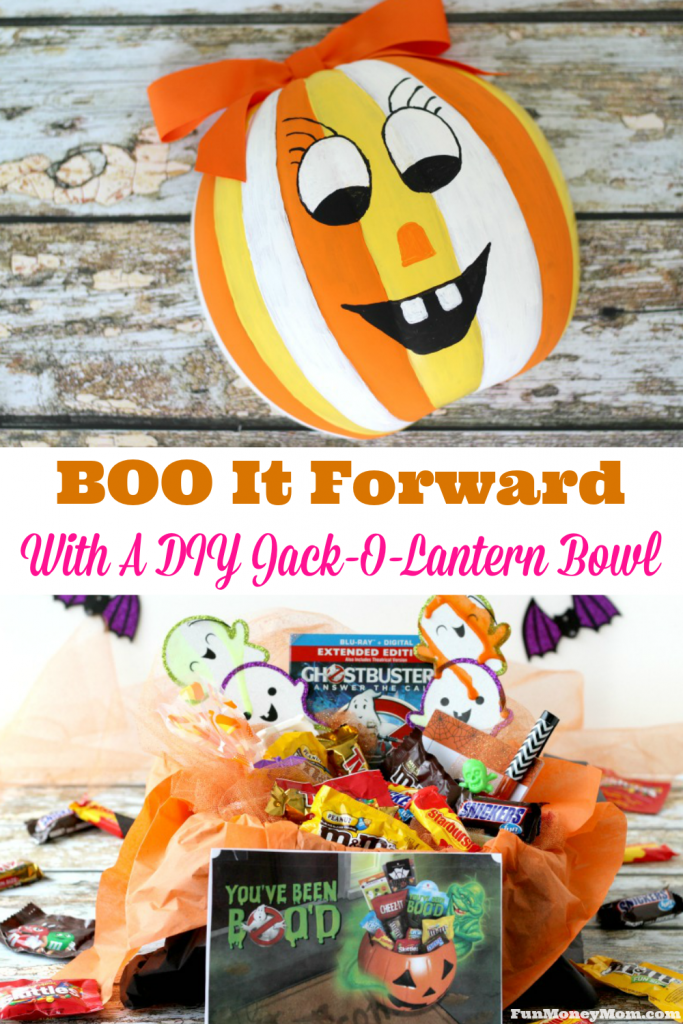 Want to learn how to make the ultimate BOO kit? This one even includes a tutorial for a fun DIY Jack-o-Lantern bowl! #ad #BOOItForward @Walmart