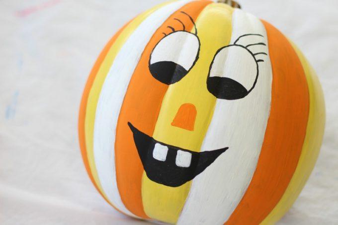 DIY-Jack-o-lantern-face-painted