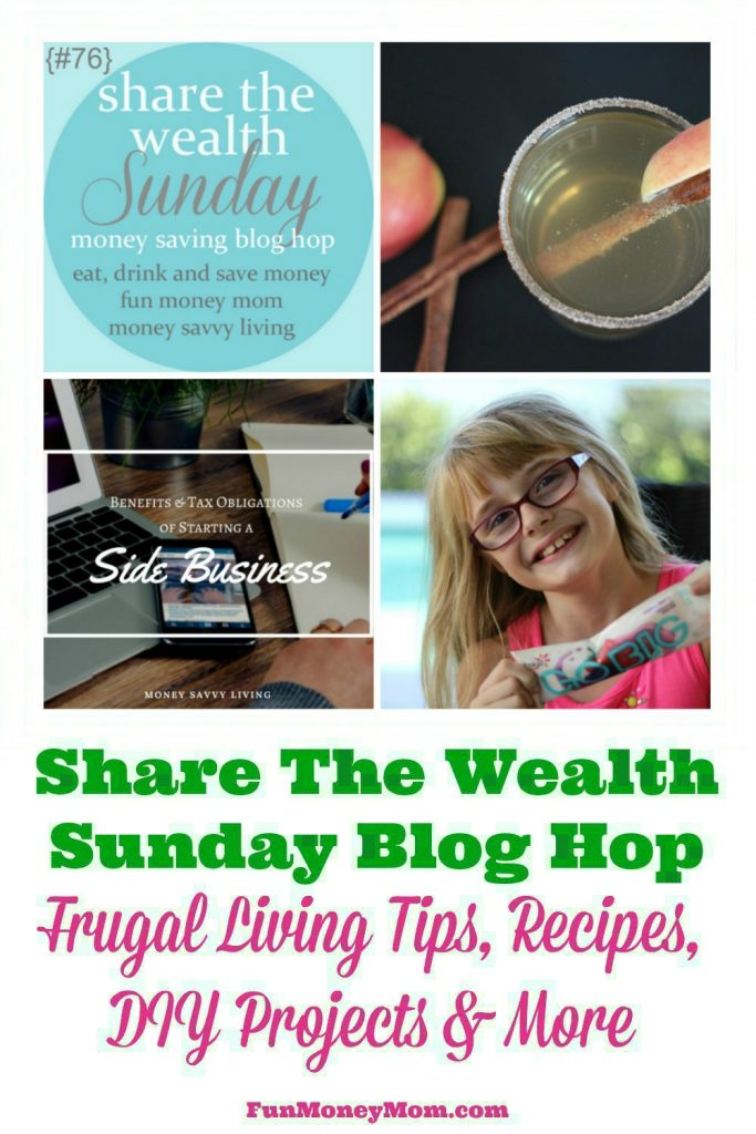 Join us for the Share The Wealth Blog Hop (week of 10/1). Share recipes, DIY projects, money saving tips & more!