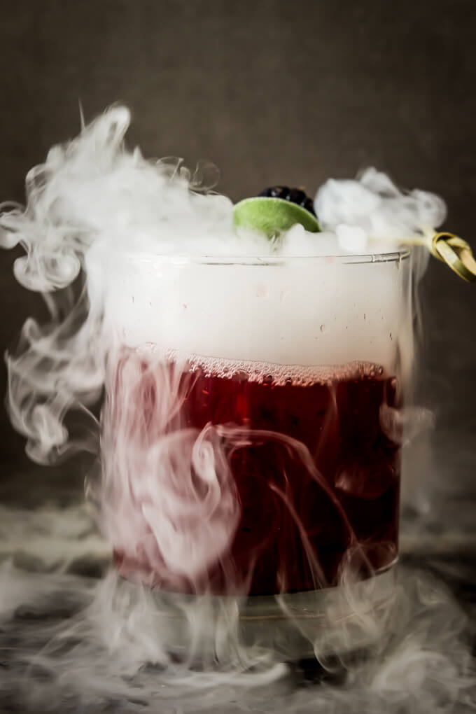 Blackberry Sage Halloween cocktail