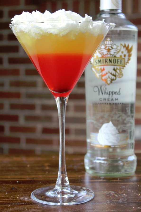 Candy Corn Halloween cocktail