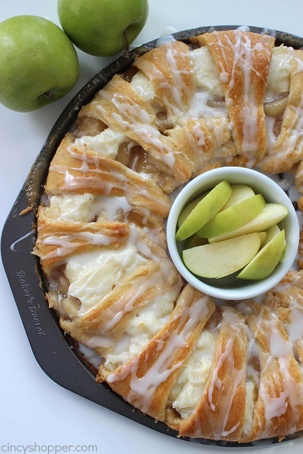 Caramel Apple Cream Cheese Crescents make great Thanksgiving desserts but are perfect for breakfast too