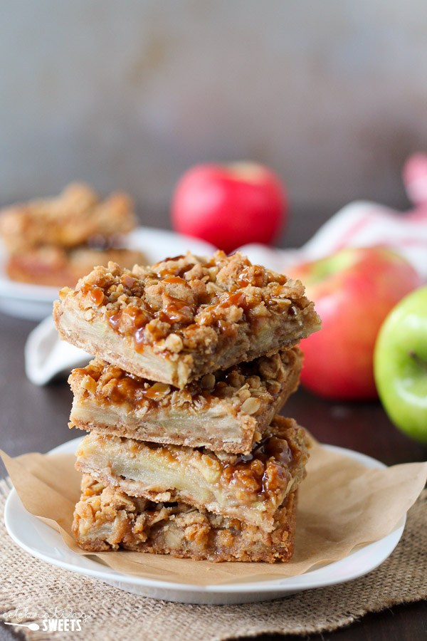 Caramel Apple Crumb Bars make fun Thanksgiving dessert ideas