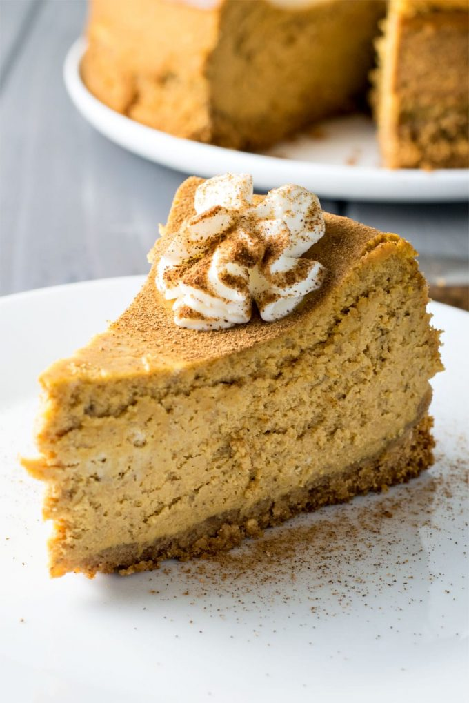 Thanksgiving cheesecake with pumpkin spice